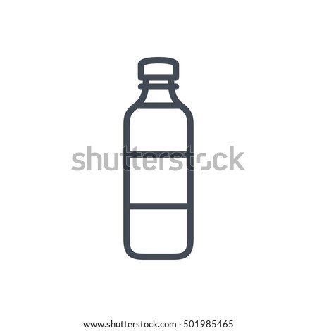 Bottle of water Icon Food Outlined Drink