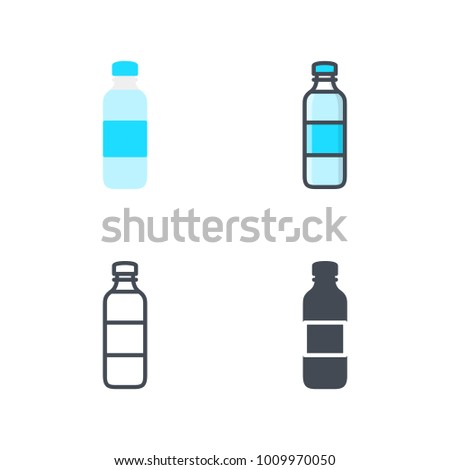 Bottle of water vector icon