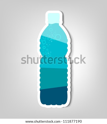bottle of water. vector poster