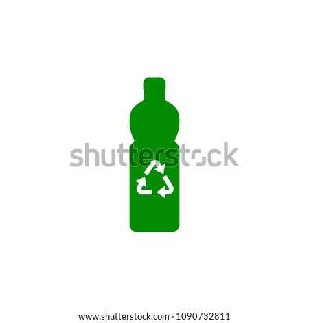 bottle recycling green icon. Element of nature protection icon for mobile concept and web apps. Isolated bottle recycling icon can be used for web and mobile on white background