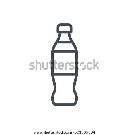 Bottle Soda Icon Food Outlined Drink