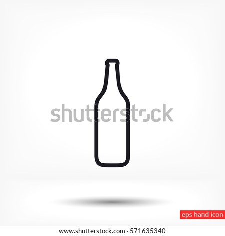 bottle vector icon