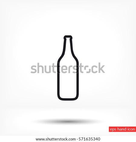 bottle vector icon