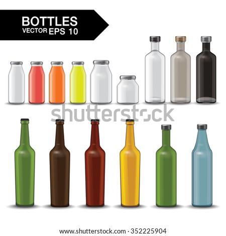 bottle vector illustration #352225904