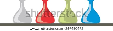 bottle, vector, isolated, icon, science