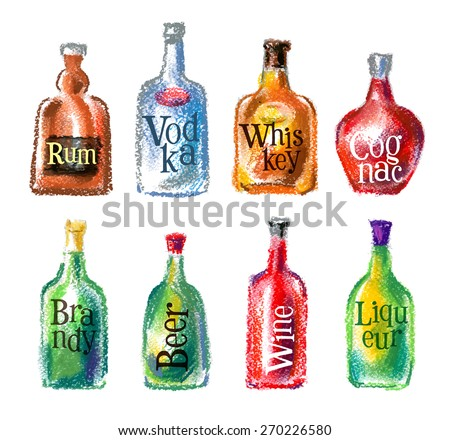 bottle vector logo design