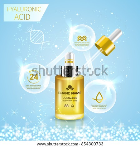bottle with hyaluronic acid