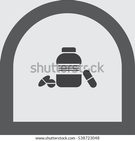 bottle with pills vector icon