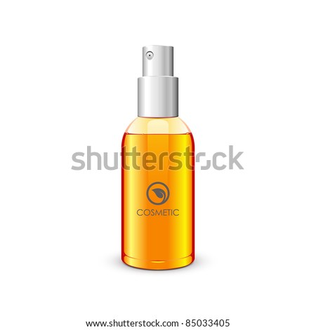 Bottle With Spray: Orange - stock vector