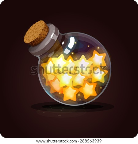 bottle with stars icon game
