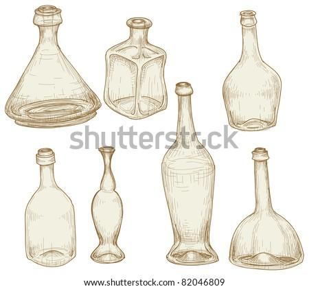 Bottles drawings