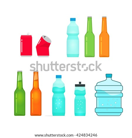 bottles vector collection