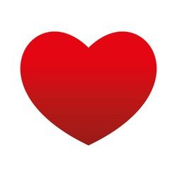 Bottom Gradient Big Red Heart Round Valentine's day Vector