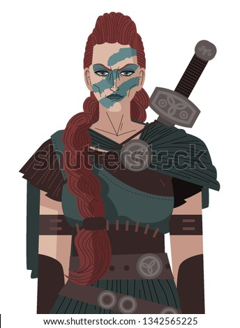 Boudica ancient celtic barbarian queen female warrior