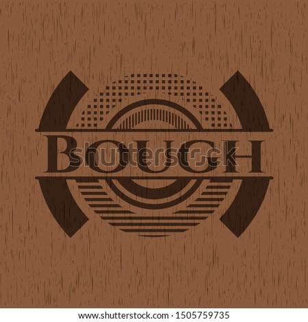 Bough wood signboards. Vector Illustration.