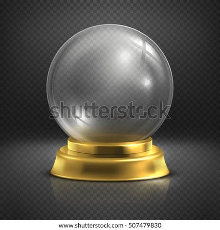 boule  glass empty magic ball