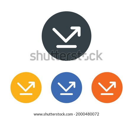 Bounce, rebound, reflect and reversal icon sign and symbol. Foto d'archivio ©