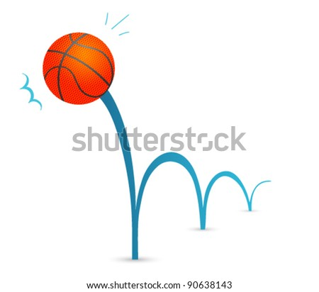 bouncing basketball cartoon