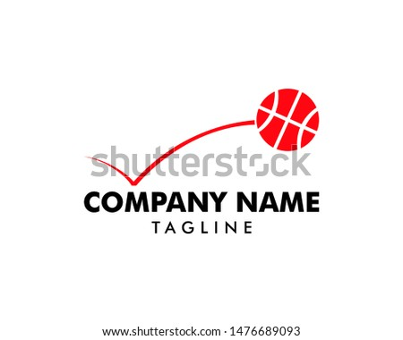 Bouncing Basketball Logo Template Design Foto d'archivio ©