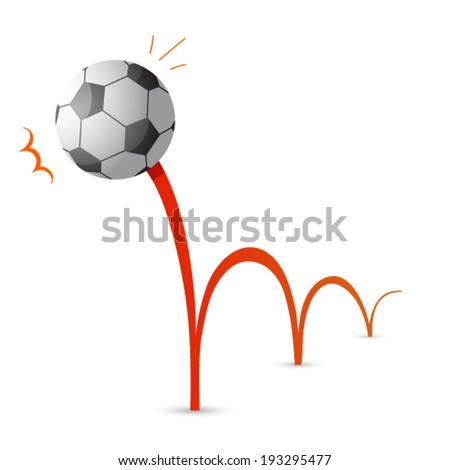 bouncing soccer ball cartoon