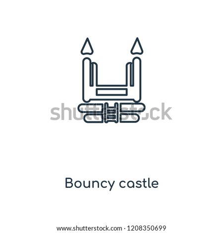 Bouncy castle concept line icon. Linear Bouncy castle concept outline symbol design. This simple element illustration can be used for web and mobile UI/UX.