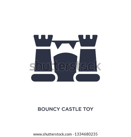 bouncy castle toy icon. Simple element illustration from toys concept. bouncy castle toy editable symbol design on white background. Can be use for web and mobile.