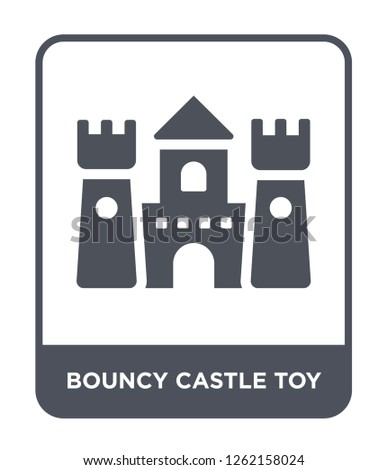bouncy castle toy icon vector on white background, bouncy castle toy trendy filled icons from Toys collection, bouncy castle toy simple element illustration