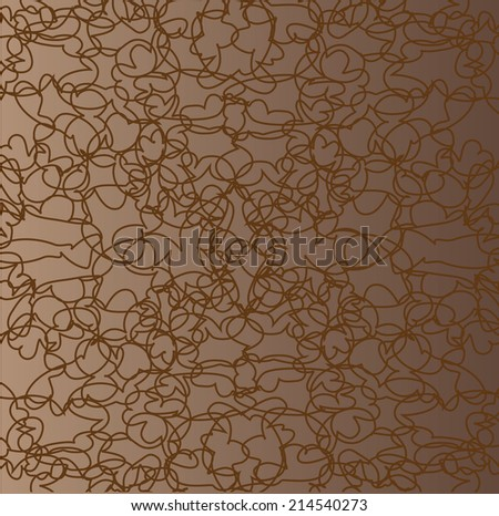 Bound in the mess of black lines on a brown background