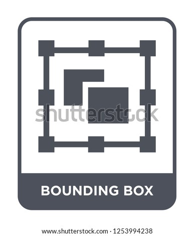 bounding box icon vector on white background, bounding box trendy filled icons from Geometric figure collection