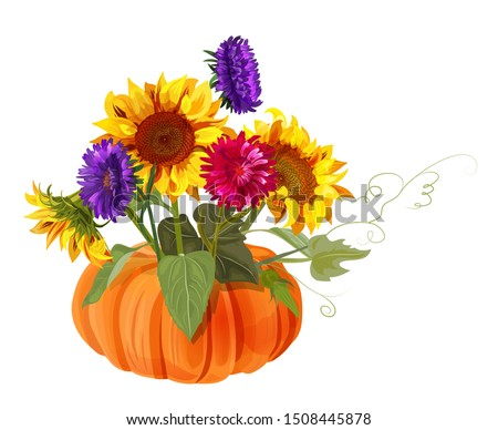 bouquet autumn flowers with