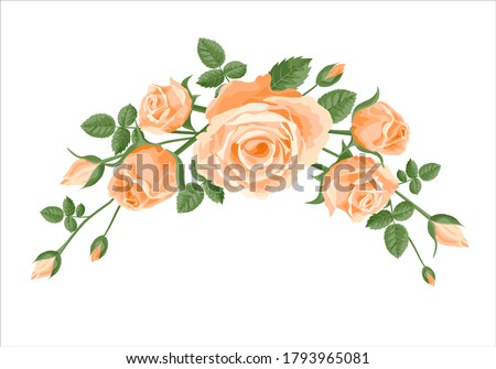bouquet  garland of roses