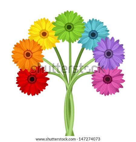 bouquet of colorful gerbera