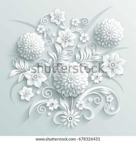 bouquet of decorative white