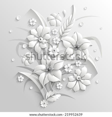 bouquet of fantastic white