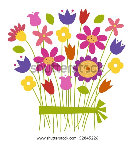 Bouquet of flowers - vector
