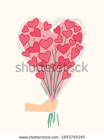 bouquet of hearts valentine