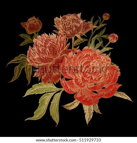 bouquet of peonies isolated on