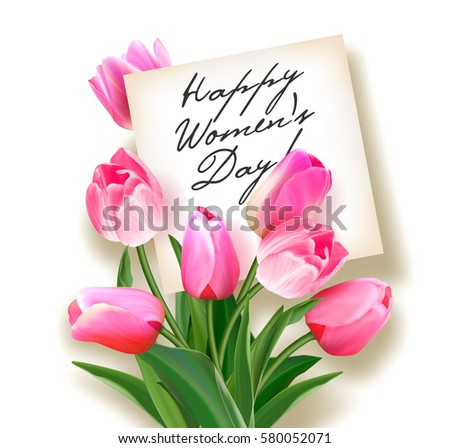 bouquet of pink tulips with a