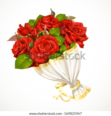 bouquet of red roses valentines