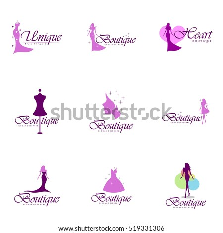 Shutterstock Boutique, Beauty logo series