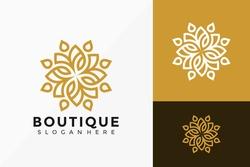 Boutique Flower Creative Logo Design. Modern Idea logos designs Vector illustration template