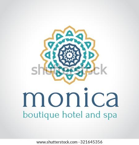 Boutique hotel logo hotel logo vintage logo vector logo for Boutique hotel logo