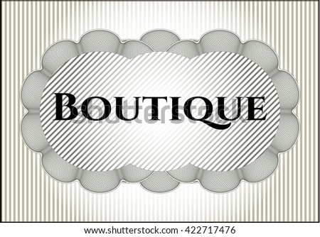 Boutique poster or banner