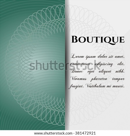 Boutique retro style card, banner or poster