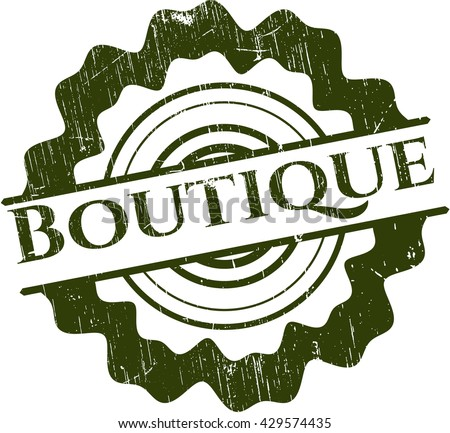 Boutique rubber stamp with grunge texture