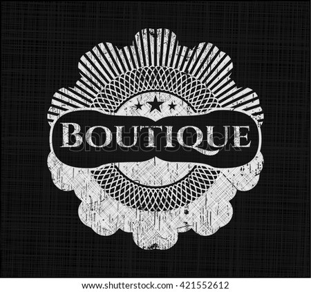 Boutique written with chalkboard texture