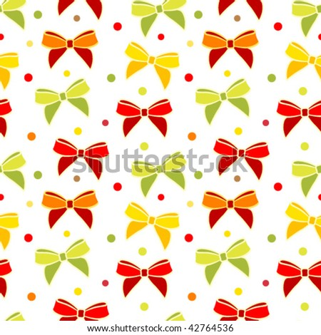 Bow seamless background