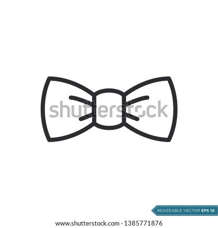 Bow Tie Icon Vector Template Flat Design Stock fotó ©