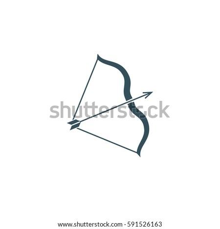 Bow vector icon illustration