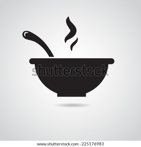 Bowl icon isolated on white background. Vector art.